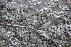 Wzór cyzelowania silverware i sztuka fotografia royalty free