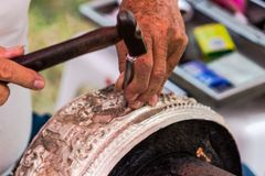 Wzór cyzelowania silverware i sztuka, Tajlandia Fotografia Royalty Free
