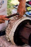 Wzór cyzelowania silverware i sztuka, Tajlandia Zdjęcia Stock
