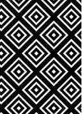 Wzór czarni rhombuses royalty ilustracja