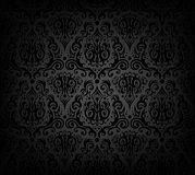 wzór czarny tapeta Fotografia Royalty Free