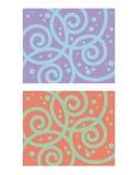 wzór dekoracyjna spirala Obrazy Royalty Free