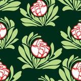 Wzór dekoracyjne róże Obrazy Royalty Free