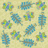Wzór, dekoracyjni motyle Zdjęcia Stock