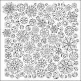 Wzór dla kolorystyki książki Etniczny, kwiecisty, retro, doodle, wektor royalty ilustracja