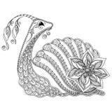 Wzór dla kolorystyki książki Ilustracja ślimaczek Obrazy Stock