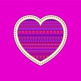 Wzór dla, serce i Obrazy Stock