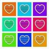 Wzór dla, serce i Zdjęcia Royalty Free