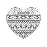 Wzór dla, serce i Zdjęcie Stock