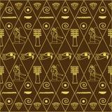 Wzór Egipscy hieroglyphics Zdjęcia Stock