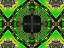 wzór etniczne Abstrakcjonistyczna kalejdoskop tkanina Zdjęcia Stock