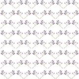 Wzór gałąź z purpurowymi jagodami Zdjęcie Royalty Free