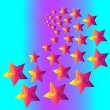Wzór gwiazdy w dyskoteka stylu royalty ilustracja