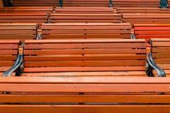 Wzór horyzontalne linie drewniane ławki Obraz Stock