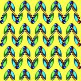 Wzór insekt pszczół motyle i gąsienicy ilustracji