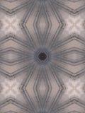 Wzór kalejdoskopu abstrakta popielaty wzór Zdjęcia Royalty Free