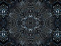 Wzór kalejdoskopu abstrakta popielaty wzór Zdjęcie Royalty Free
