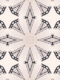 Wzór kalejdoskopu abstrakta popielaty wzór Zdjęcia Stock