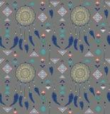 Wzór kolorów indianów Amerykański dreamcatcher Obraz Royalty Free