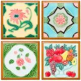 Wzór kolorowy nowożytna stylu powierzchni płytka Fotografia Royalty Free