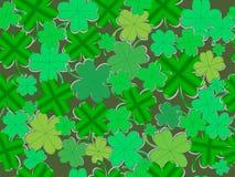Wzór koniczyna opuszcza dla Irlandzkiego wakacje St Patrick royalty ilustracja