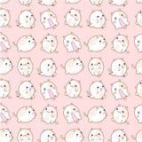 Wzór koty z różnymi emocjami handmade Śliczny emoticon Zdjęcia Stock
