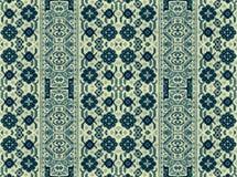 Wzór kwieciści i geometryczni elementy dla dywanu, pościel Fotografia Stock
