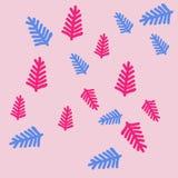 Wzór kwiecisty motyw, gałąź, doodles ręka patroszona Obrazy Royalty Free