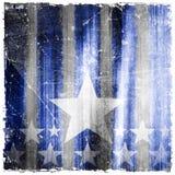 Wzór lampasy i gwiazdy na grunge tle Zdjęcia Royalty Free