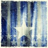 Wzór lampasy i gwiazdy na grunge tle Obraz Royalty Free