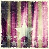 Wzór lampasy i gwiazdy na grunge tle Fotografia Stock