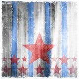 Wzór lampasy i gwiazdy na grunge tle Zdjęcie Stock