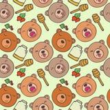 Wzór lasowi niedźwiedzie Zdjęcie Royalty Free