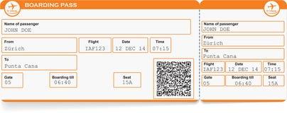 Wzór Linia Lotnicza Abordażu Przepustki Bilet Ilustracja Wektor