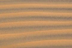 Wzór linie w Pustynnym piasku Obrazy Royalty Free
