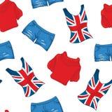 Wzór Londen koloru ubrania Obraz Stock