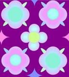 Wzór menchii i błękita kwiaty Zdjęcia Stock