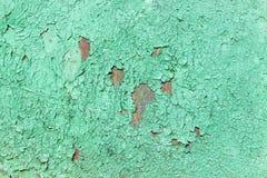 Wzór metal stara malująca powierzchnia Ośniedziały metal, target335_1_ farba, zieleni brzmienia, jaskrawy kolory Zdjęcia Stock