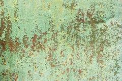 Wzór metal stara malująca powierzchnia Ośniedziały metal, target335_1_ farba, zieleni brzmienia, jaskrawy kolory Obraz Stock