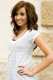 wzór mody nastolatków brunetki Obrazy Stock