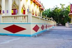 Wzór na świątyni ściany Tajlandia tła teksturze Obraz Stock