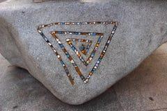 Wzór na kamieniu Zdjęcie Stock