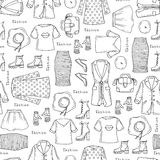 Wzór na temacie damy moda na bielu Fotografia Royalty Free