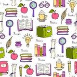 Wzór na temacie książki i edukacja Zdjęcia Stock