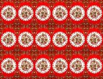 Wzór na tkaninie społeczność, opuszcza i kwitnie Obrazy Royalty Free