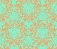Wzór od dekoracyjnych elementów w zieleni tonaci royalty ilustracja