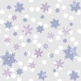 Wzór opad śniegu w pastelowym kolorze ilustracja wektor