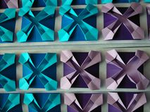 wzór origami abstrakcyjne obraz royalty free