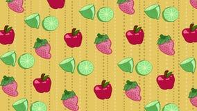 Wzór owoc Zdjęcia Royalty Free