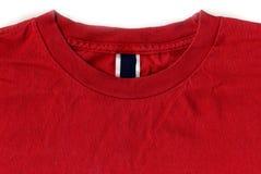 wzór oznakowania etykiety czerwone koszule t Zdjęcie Stock